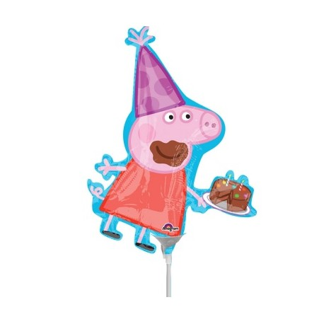 Globo Peppa Pig  para palito foil