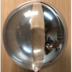 """Globo foil espejo con transparente 10""""-25cm"""