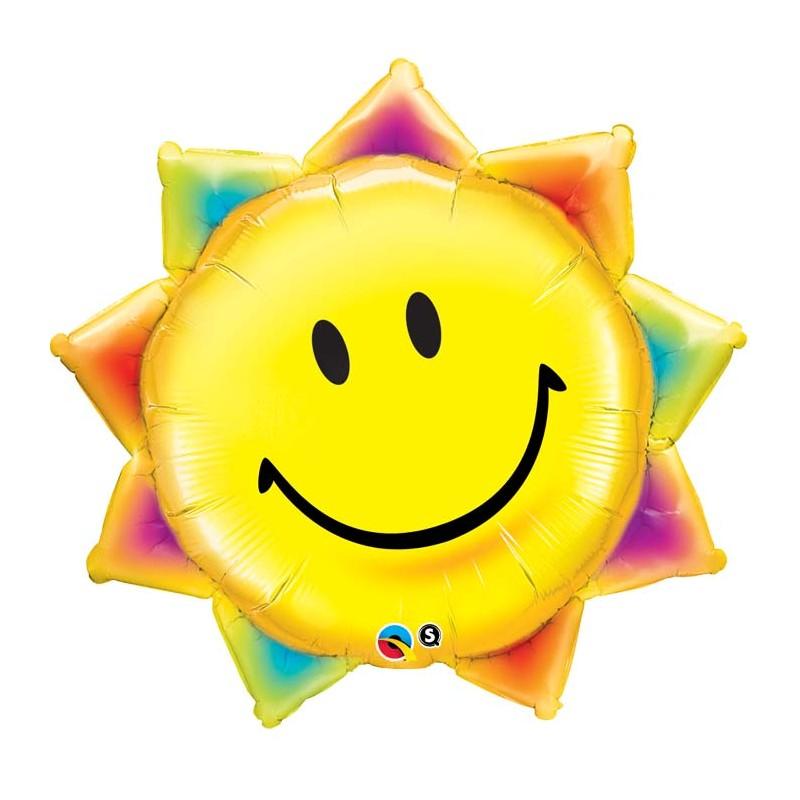 Globo sol sonrisa foil