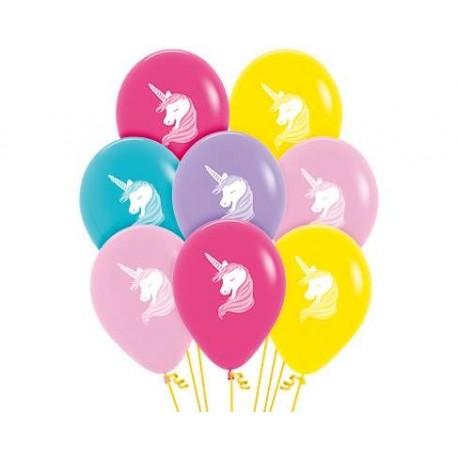 """Globos unicornios 12""""-30cm Sempertex"""
