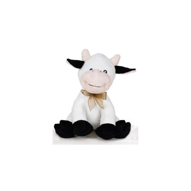 Peluche vaca patas negras 20cm