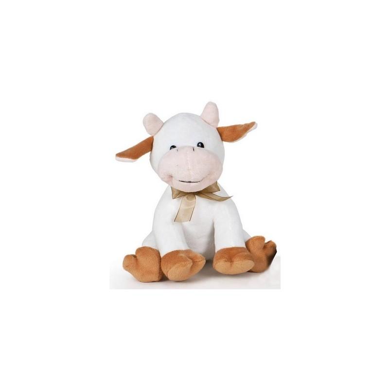 Peluche vaca patas marrones 20cm