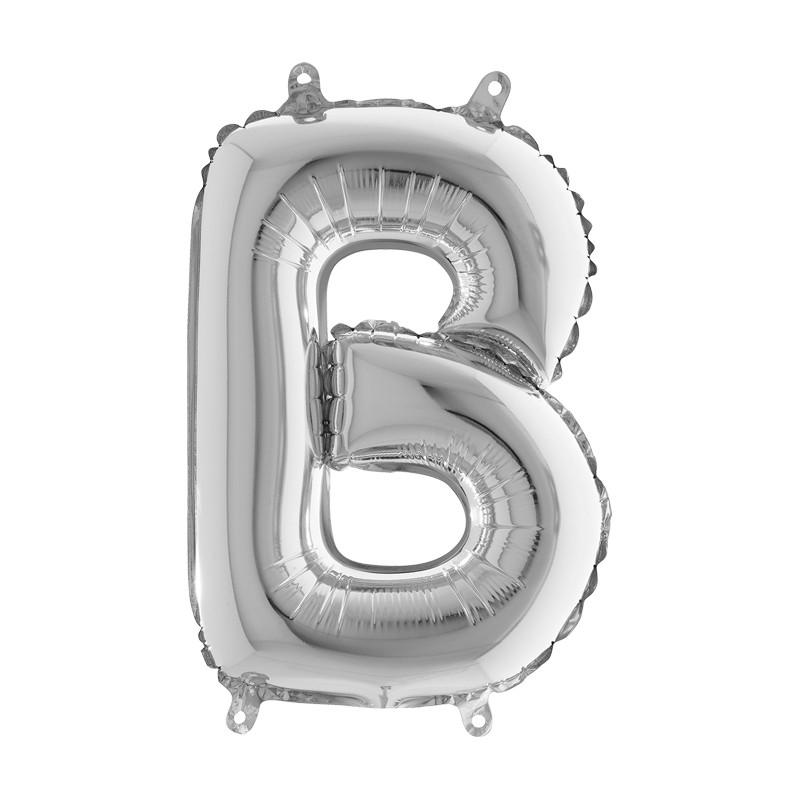 Globo Letra B de foil TG 36cm