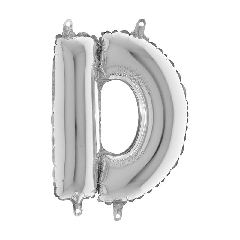 Globo Letra D de foil TG 36cm