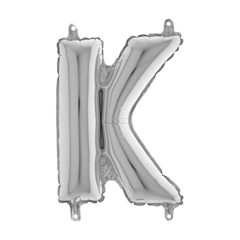 Globo Letra K de foil TG 36cm