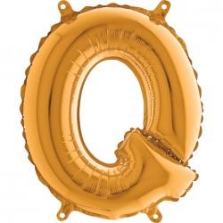 Globo Letra Q de foil TG 36cm