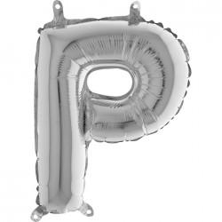 Globo Letra P de foil TG 36cm