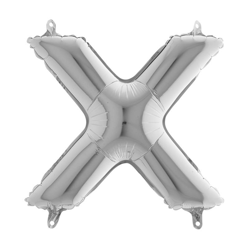 Globo Letra X de foil TG 36cm