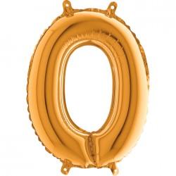 Globo Número 0 de foil TG 36cm
