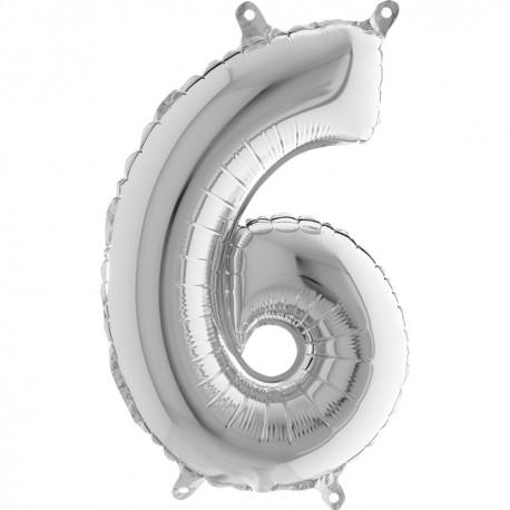 Globo Número 6 de foil TG 36cm