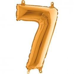 Globo Número 7 de foil TG 36cm