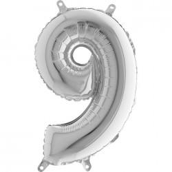 Globo Número 9 de foil TG 36cm