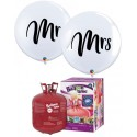 PACK GLOBO GIGANTE MR & MRS 3'