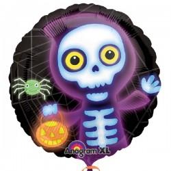 Globo Esqueleto BOO CREW foil