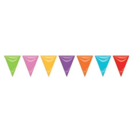 Guirnalda triángulos 50m multicolor