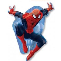 Globo Spiderman azul forma Foil
