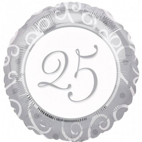 Globo Feliz 25 Aniversario Foil
