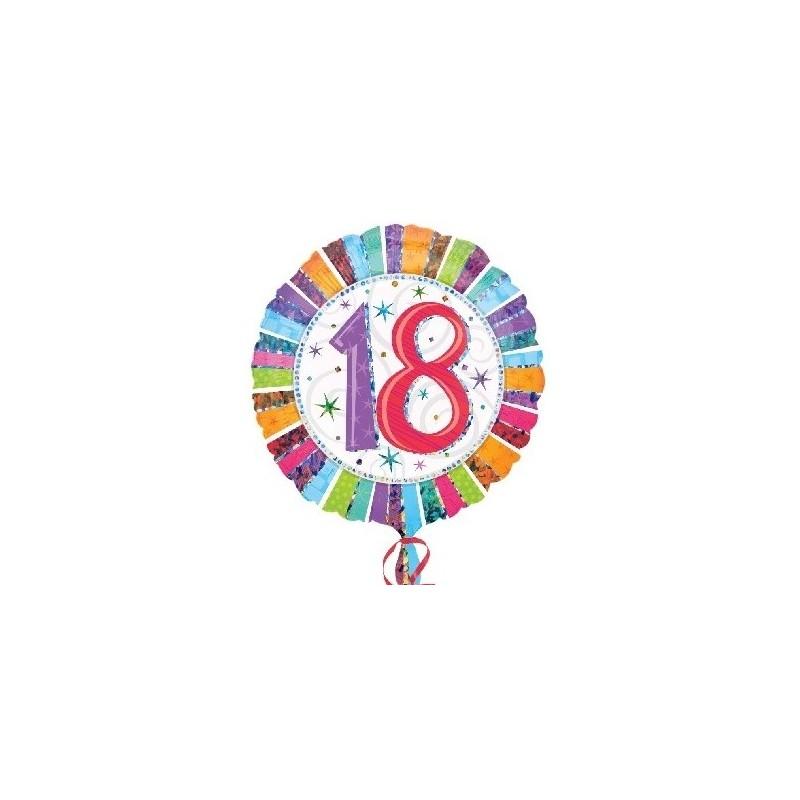 Globo Feliz 18 Aniversario Foil