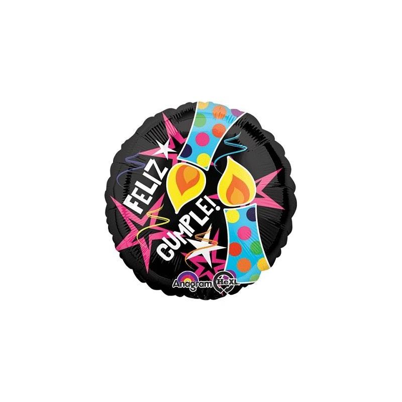"""Globo Feliz Cumple VELAS 18""""-45cm foil"""