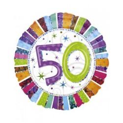 Globo Feliz 50 Aniversario Foil