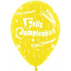 "Globos Feliz Cumpleaños 12""-30cm Sempertex"