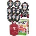 Pack globos CALAVERA CATRINA HALLOWEEN Plus