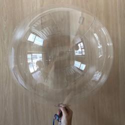 "Globo transparente redondo 18""-45cm (5 unid)"