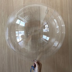 "Globo transparente redondo 24""-60cm (2 unid)"