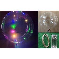 "PACK GLOBO TRANSPARENTE 18"" LED PAS"