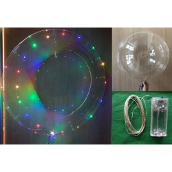 "PACK GLOBO TRANSPARENTE 24"" LED EST"