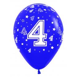 """Globos Número 4 12""""-30cm Sempertex"""