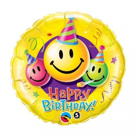 Globo happy birthday sonrisas foil