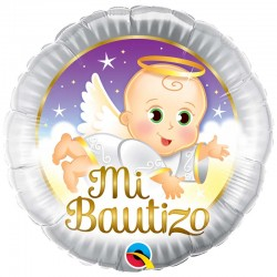 "Globo Mi Bautizo 18"" -45cm foil Qualatex"