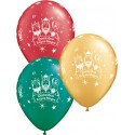 "Globos Reyes Magos 11""-28cm Qualatex (6U)"