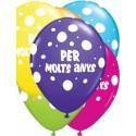 """Globus Per Molts Anys 11""""-28cm Qualatex (6)"""