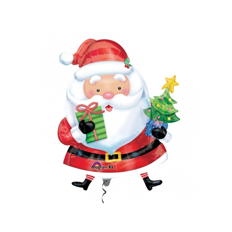 Globo Santa con árbol forma foil