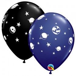 """Globos de planetas 11""""-28cm Qualatex"""