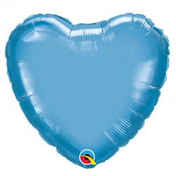 "Globo corazón chrome de foil 18""-45cm Qualatex"