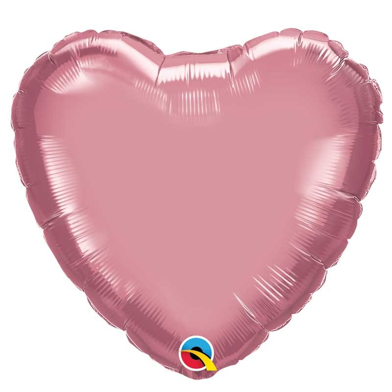 "Globo corazón chrome de foil 18""-45cm Qualatex"