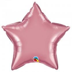 """Globo estrella chrome de foil 18""""-45cm Qualatex"""