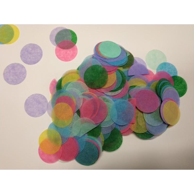 Pack 10 bolsas confeti 10gr MULTICOLOR