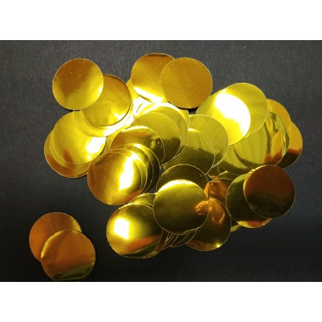 Pack 10 bolsas confeti 10gr METAL DORADO