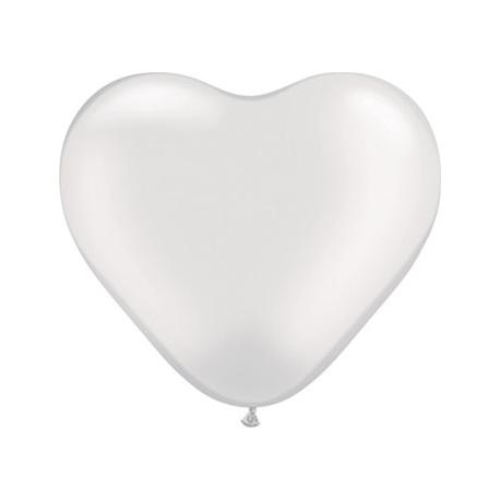 "Globos Corazón 6""-15cm Perla Qualatex"