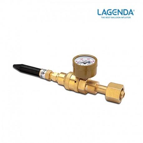 Válvula látex a rosca con manómetro LAGENDA