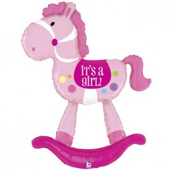 Globo It's a girl Caballo foil TG