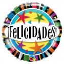 "Globo Felicidades Stars 18""-45cm Qualatex"