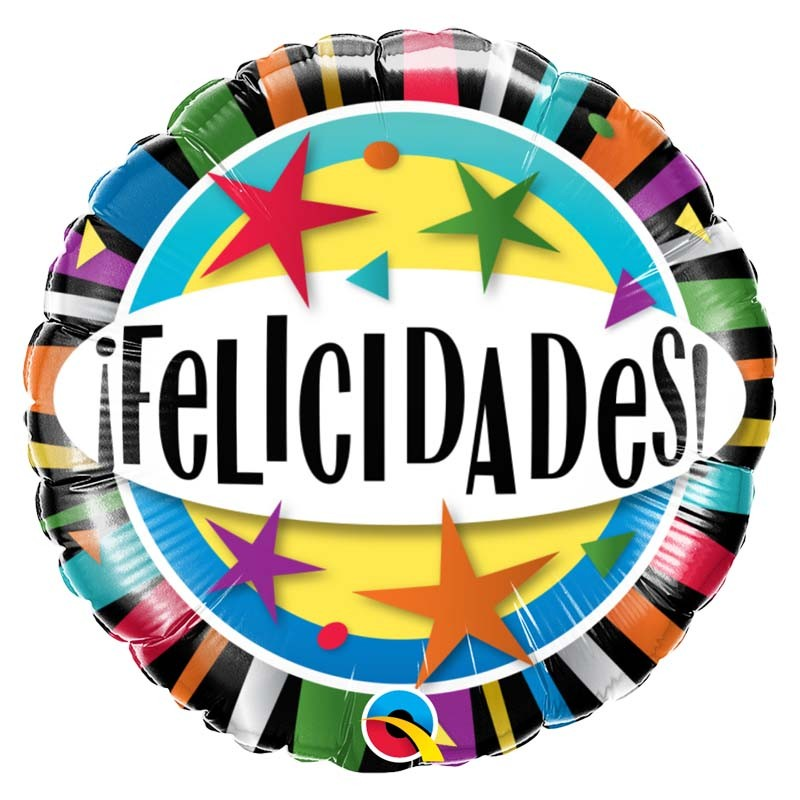 "Globo Felicidades Stars 18""-45cm"