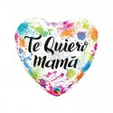 "Globo Te quiero Mamá pintura 18""-45cm Qualatex"