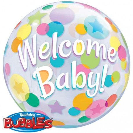 Bubble Burbuja Welcome Baby
