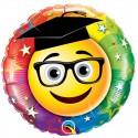 """Globo Graduado Emoji birrete 18""""-45cm Qualatex"""
